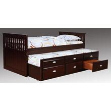 Logan Twin Captain's Bed - Merlot