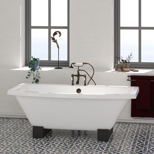 "Athens 67"" Cast Iron Tub - No Drillings"
