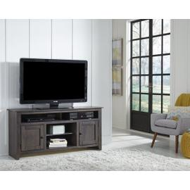 See Details - 58 Inch Console - Pine, Dark Pine and Black Finish