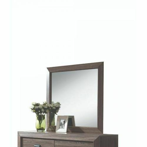 ACME Lyndon Mirror - 26024 - Weathered Gray Grain