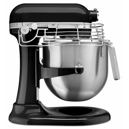 Gallery - NSF Certified® Commercial Series 8 Quart Bowl-Lift Stand Mixer with Stainless Steel Bowl Guard - Onyx Black