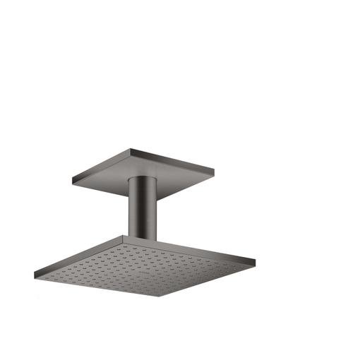 Brushed Black Chrome Overhead shower 250/250 2jet with ceiling connection