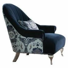 ACME Jaborosa Chair w/1 Pillow - 50347 - Blue Velvet