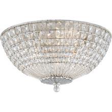 See Details - AERIN Renwick 3 Light 17 inch Burnished Silver Leaf Flush Mount Ceiling Light