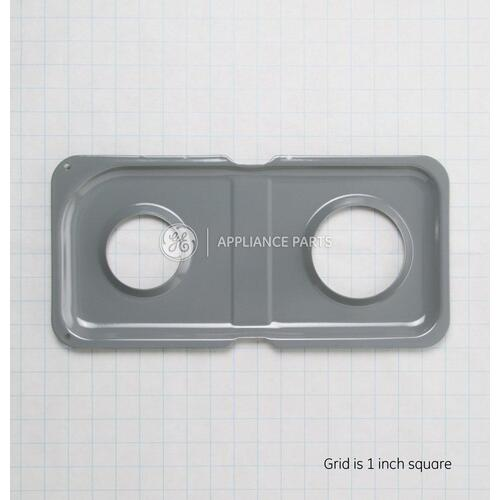 GE Appliances - Range Double Drip Pan - Right Side; Gray