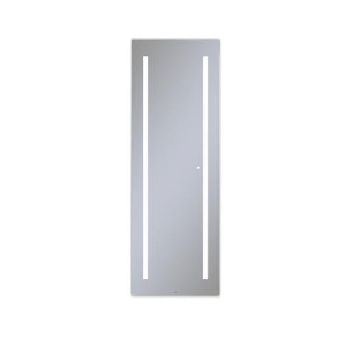 """Aio 23-1/8"""" X 69-7/8"""" X 1-1/2"""" Full Length Lighted Mirror With Lum Lighting At 4000 Kelvin Temperature (cool Light), Dimmable and Usb Charging Ports"""
