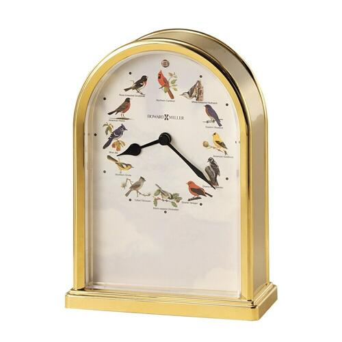 Howard Miller Songbirds of North America III Brass Table Clock 645405