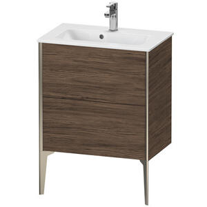 Vanity Unit Floorstanding Compact, Walnut Dark (decor)