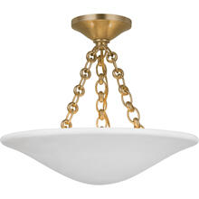 View Product - AERIN Mollino LED 16 inch Hand-Rubbed Antique Brass Semi-Flush Mount Ceiling Light