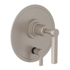 Lombardia Pressure Balance Trim with Diverter - Satin Nickel with Metal Lever Handle