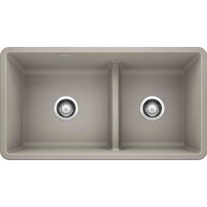 Precis Reverse 1-3/4 Bowl With Low Divide - Concrete Gray