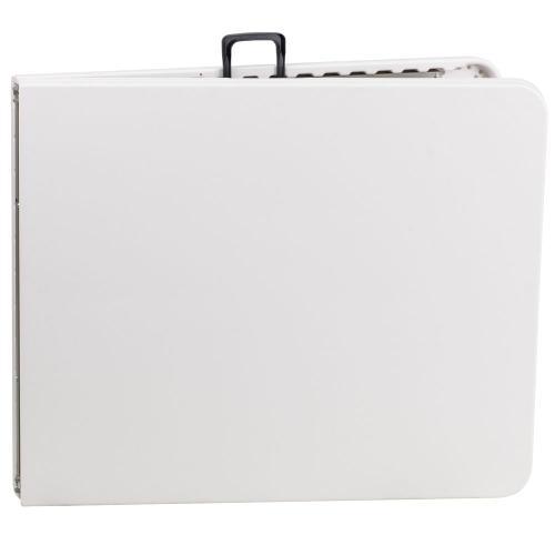30''W x 72''L Bi-Fold Granite White Plastic Folding Table