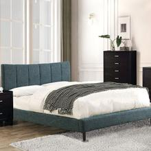 Ennis Queen Bed, Dark Blue