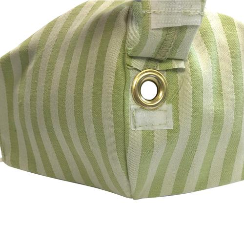 Happy Hour Reusable Face Mask in Celery Green Stripe