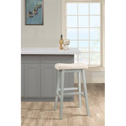 Moreno Backless Counter Stool - Blue Gray