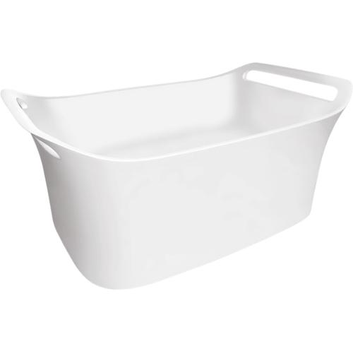 White Wall-Mounted Sink 624/399