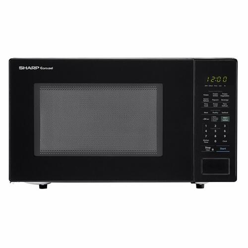 Sharp - 1.4 cu. ft. 1000W Sharp Black Countertop Microwave Oven