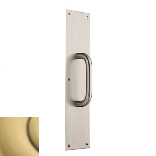 Satin Brass and Brown 2540 Pull x 2124 Pull Plate