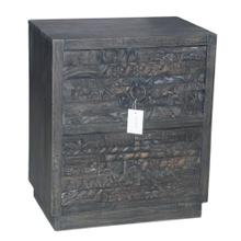Carved 2 Drawer Nightstand
