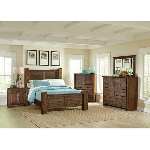 Sutter Creek Rustic Vintage Bourbon Eastern King Four-piece Set