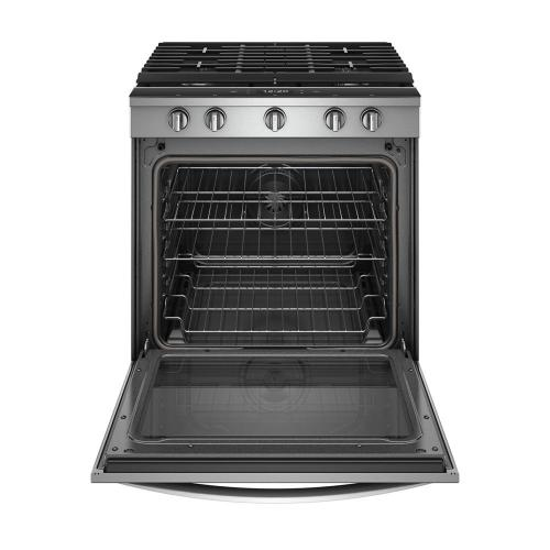 Whirlpool - 5.8 cu. ft. Smart Slide-in Gas Range with EZ-2-Lift™ Hinged Cast-Iron Grates