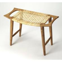 Perfect in an indoor arrangement, this versatile stool is a compact accent that serves as an impromptu seat in any space. This handmade piece features rattan seat and solid Mango wood frame which sports a beautiful finish that complements an array of different color palettes, giving any room a cohesive natural look.