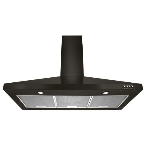 """Whirlpool - 36"""" Contemporary Black Stainless Wall Mount Range Hood"""