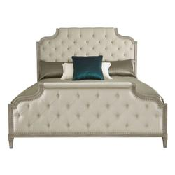 Queen Marquesa Upholstered Bed in Gray Cashmere (359)