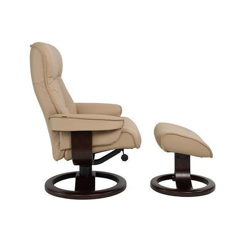 Product Image - Bergen R Manual Small Recliner With Footstool