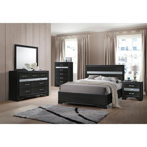 NAIMA BLACK TWIN BED