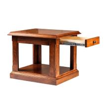 Forest Designs Traditional Alder End Table: 21W X 20H X 24D (Black Knobs) - 20h