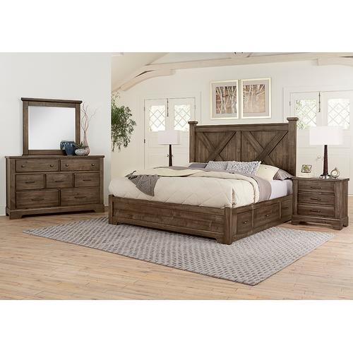 X Bed with 2 Sides Storage