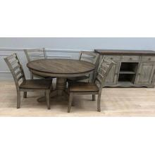 View Product - Solid Wood Table w/Light Grey Finish & Rustic Brown