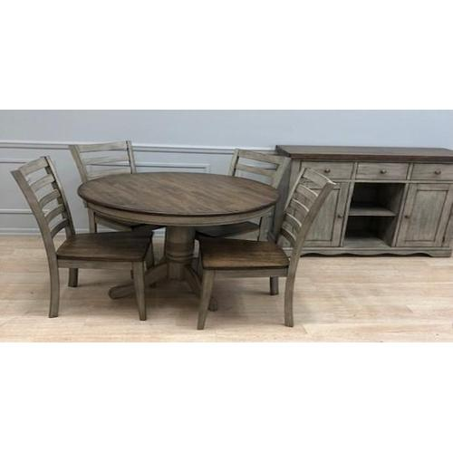 Gallery - Solid Wood Table w/Light Grey Finish & Rustic Brown