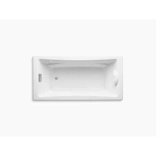 """Thunder Grey 72"""" X 36"""" Drop-in Bath With Reversible Drain"""