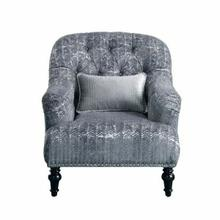 ACME Gaura Chair w/1 Pillow - 53092 - Pattern Gray Velvet