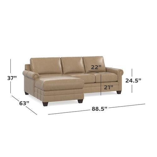 CU.2 Leather Left Chaise Sectional