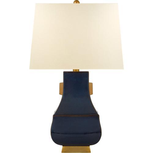 Visual Comfort - E. F. Chapman Kang Jug 29 inch 100.00 watt Mixed Blue Brown with Burnt Gold Table Lamp Portable Light, Large