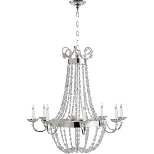 Visual Comfort - E F Chapman Paris Flea Market 8 Light 32 inch Polished Silver Chandelier Ceiling Light