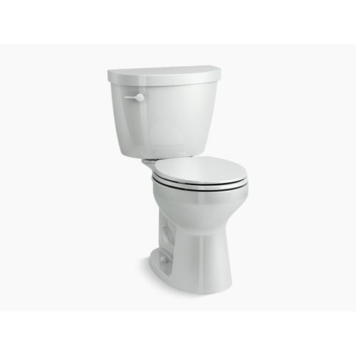 Kohler - Ice Grey Two-piece Round-front 1.28 Gpf Chair Height Toilet