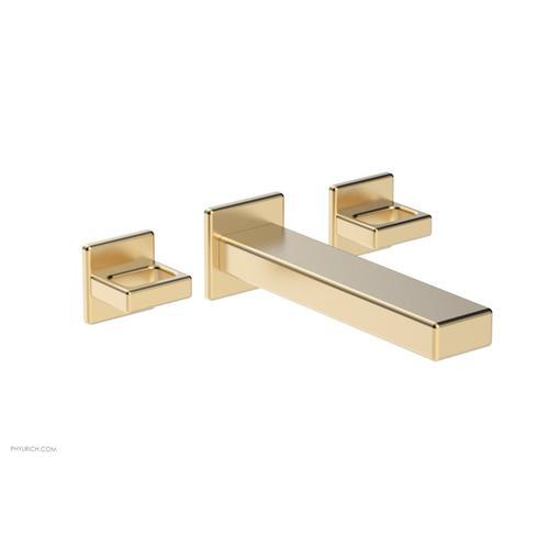 MIX Wall Lavatory Set - Ring Handles 290-13 - Satin Brass