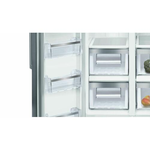 300 Series Freestanding Counter-Depth Side-by-Side Refrigerator 36'' Easy clean stainless steel B20CS30SNS