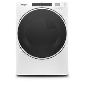 7.4 cu. ft. Front Load Gas Dryer with Steam Cycles White