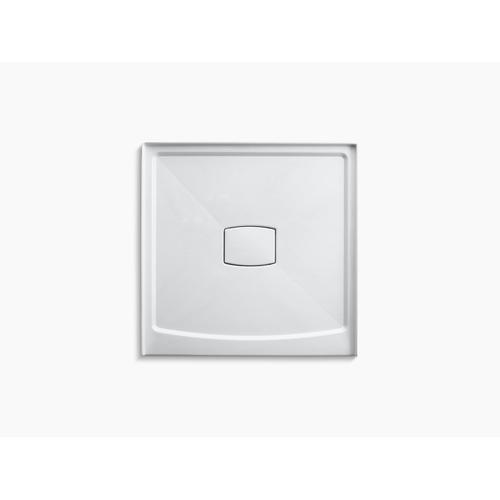 """White 42"""" X 42"""" Single Threshold Center Drain Shower Base With Removable Cover"""