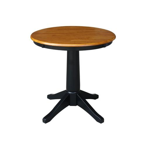 """Product Image - 30"""" Pedestal Table in Cherry / Black"""