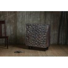 ACME Rosaleen Console Table - 97760 - Rustic - Wood (Mango) - Gray Oak
