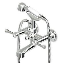 Exposed bath-shower mixer with aerator, diverter, hand-shower Z9472P.C, 1500 mm flexible hose.