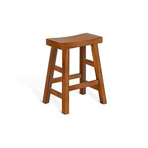 "Sunny Designs - 24""H Sedona Saddle Seat Stool"