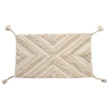 """Product Image - 22""""L x 36""""W Woven Cotton Patterned Rug w/ Braided Tassels, Natural"""