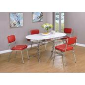 Retro Red and Chrome Dining Chair